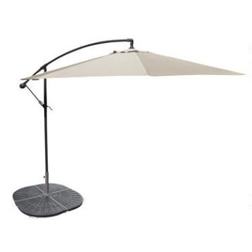 10' Natural Cantilever Umbrella and Weight Base